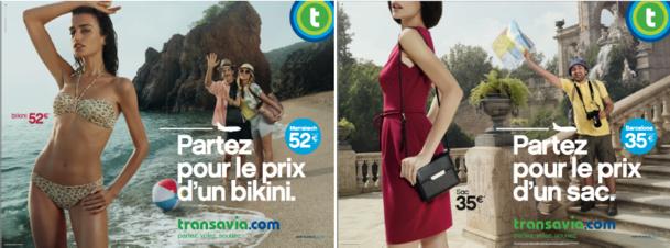 Dans sa nouvelle campagne de communication, Transavia met en scène des touristes qui s'invitent sur un shooting de mode - DR