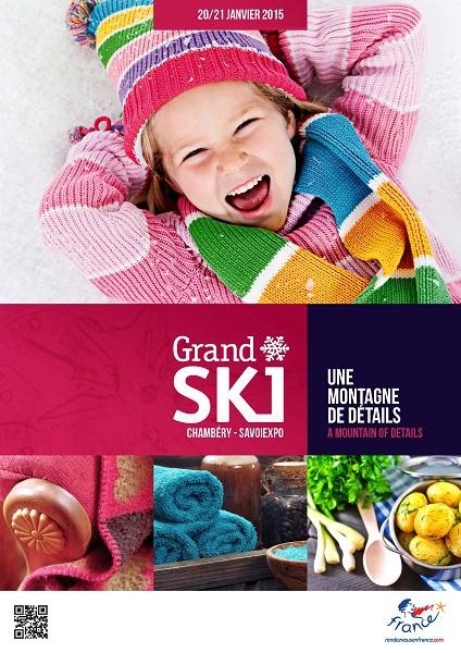 L'affiche de la 24e édition de Grand Ski qui se tient les 20 et 21 janvier 2015 - DR