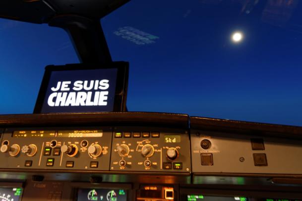 """Transport aérien : dans le ciel aussi """"On est Charlie""""..."""
