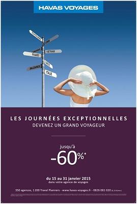 """L'opération """"Les Journées Exceptionnelles d'Havas Voyages"""" se poursuit du 15 au 31 janvier 2015 - DR"""