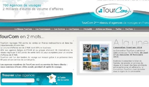 Capture d'écran du site www.tourcom.com - DR