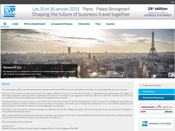 La 24ème édition de l'EVP 2015 se déroulera au Palais Brongniard, place de la Bourse à Paris, jusqu'au 16 janvier - DR : EVP 2015