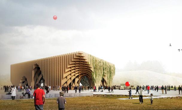 Le Pavillon France dispose d'une surface de 3 600 m2 dont 1 100 m2 scénographiés avec un café contemporain, une boutique, une boulangerie. On y attend 1 000 visiteurs par heure - Photo DR Expo Milano 20155