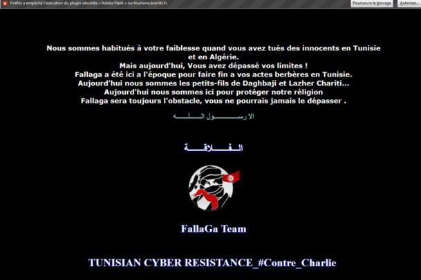 Charlie Hebdo: Tourism Office victim of the cyber-war between Anonymous and djihadists