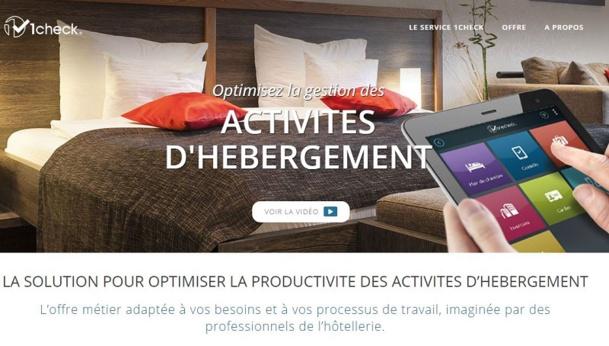 One Check propose la nouvelle version de son application tablette alors qu'il vient de lever 300.000 euros de fonds sur WiSeed. DR capture d'écran hotels.1check.com