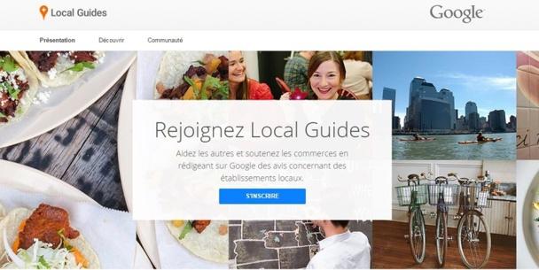Google lance Local Guide, un service Google+ pour mettre en avant les établissements locaux de qualité grâce aux commentaires des utilisateurs. DR capture d'écran www.google.com