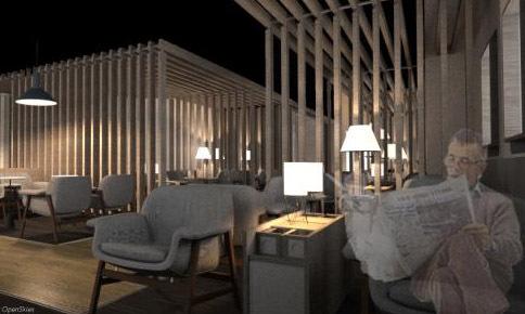 La conception et le design du salon a été confiée à l'agence NWA – Nelson Wilmotte Architecte, incubateur créatif d'aménagement et de conception d'espaces.
