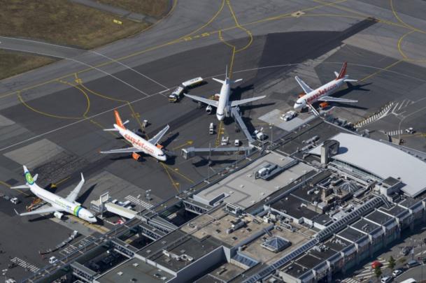 Le trafic international reste très moteur avec une progression de +10,5%. En 2014, Nantes Atlantique compte 35 destinations directes vers l'Europe, soit 2 fois plus qu'en 2009. Photo Nantes Atlantique Vinci Airports