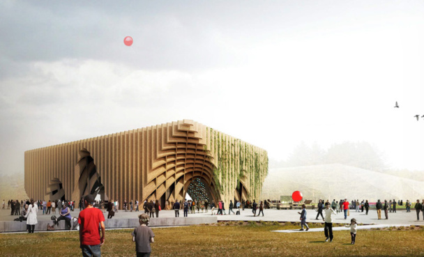 France's Pavillon has a surface of 3,600 m2 of which 1,100 m2 are set with a modern café, a boutique, and bakery. 1,000 visitors per hour are expected - Photo DR Expo Milano 2015