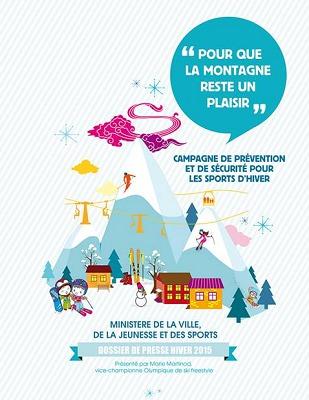 La campagne de prévention du ministère vise à faire baisser le nombre d'intervention des services de secours auprès des skieurs - DR