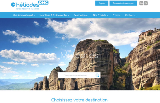 Le site Héliades DMC est accessible en anglais et en français - DR