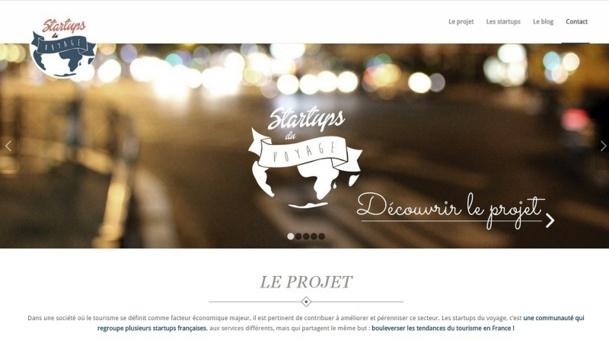Tout juste créé, le site-vitrine  des startups du voyage présente le concept, les cinq startups et leurs dernières actualités. DR. Capture d'écran
