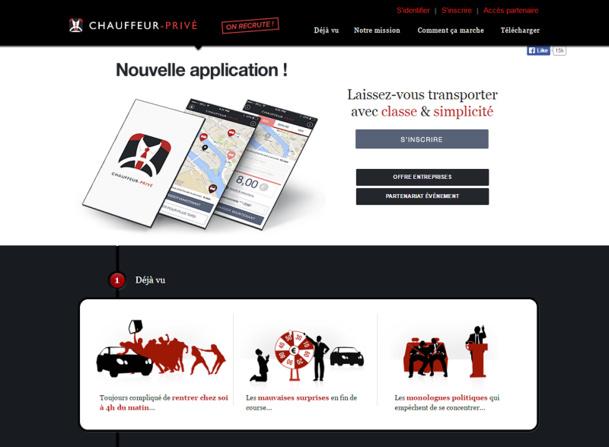 Chauffeur-Privé propose un service de chauffeur à toute heure de la journée, ou de la nuit grâce à son application mobile sur IOS ou Android. DR Capture d'écran