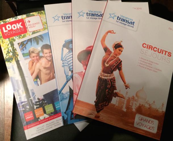 Les nouvelles brochures de Look Voyages et Vacances Transat. DR-LAC
