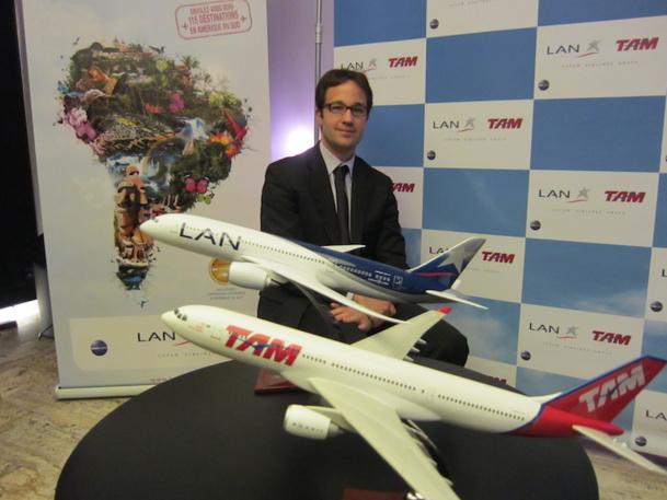 Thibaud Morand, son directeur commercial de la compagnie LATAM veut promouvoir son réseau dans toute l'Amérique du Sud. DR-LAC