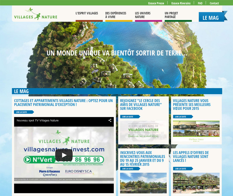 "Eurodisney and Center Parcs start building their ""Villages Natures"" residences"