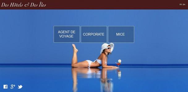 La version agents de voyages est accessible en attendant l'ouverture de celles pour le marché MICE et Corporate - Capture d'écran