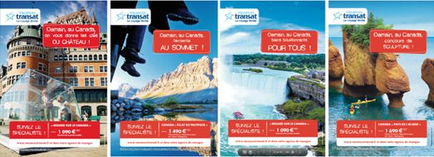 La campagne de Vacances Transat promeut 4 circuits sur 4 provinces canadiennes - DR : Vacances Transat