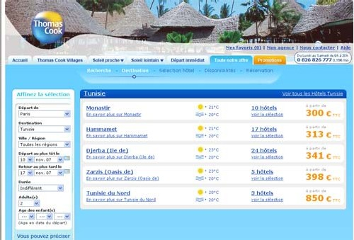 Thomas Cook lance une nouvelle solution web avec TravelTainment