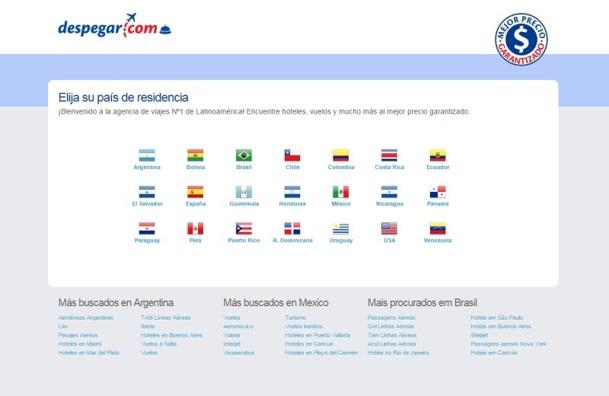 Despegar.com, la première agence de voyage en ligne sud-américaine, vient d'adopter la solution de gestion de réservation d'Availpro. DR Capture d'écran