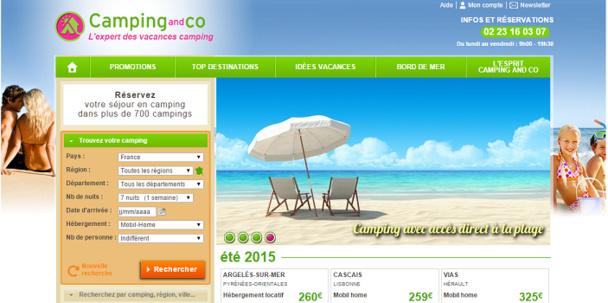 Camping-and-Co compte poursuivre sa croissance en 2015 - Capture d'écran