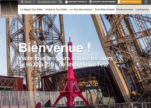 La Tour Eiffel a vu sa fréquentation grimper de plus de 5 % en 2014 - Capture d'écran