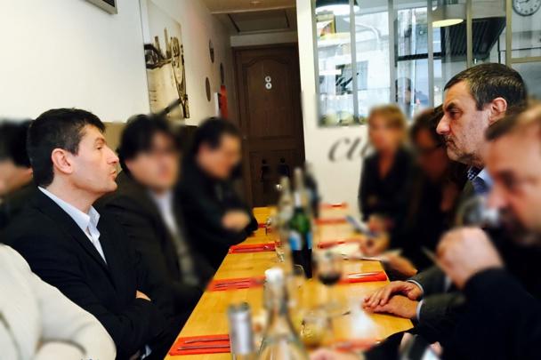 Pierre Meffre (à gche) et Bruno James (à dte) donnent les axes prioritaires de la stratégie de développement du tourisme régional /photo JDL