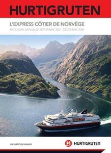 La nouvelle brochure L'Express Côtier de Norvège est valable jusqu'au 31 décembre 2008