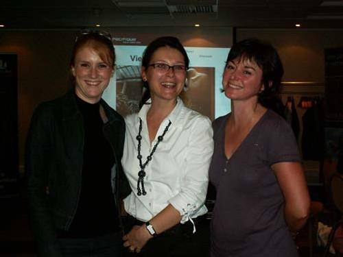 Aurélie Jean, Sandrine Sablé, déléguée commerciale Asia, et Sophie Bonnin