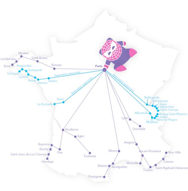 « Nous ne desservons pas l'axe Paris-Lille, ni le nord et l'est de manière générale car il s'agit plutôt de voyages professionnels. Nous visons une offre exclusive de loisirs », explique Rachel Picard. © IDTGV