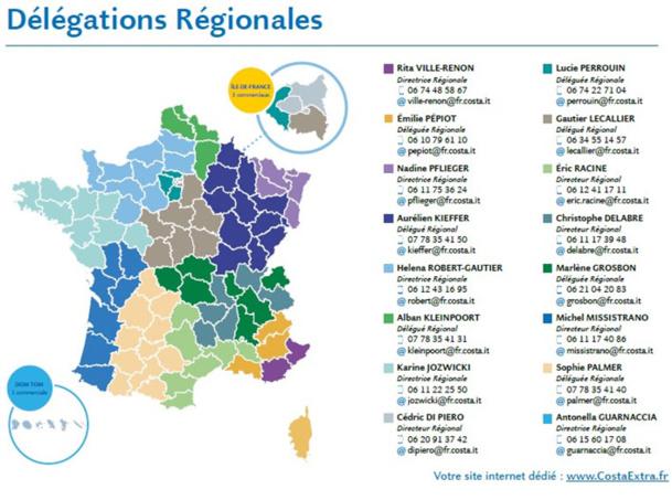 Costa Croisières crée un nouveau poste de Délégué Commercial sédentaire