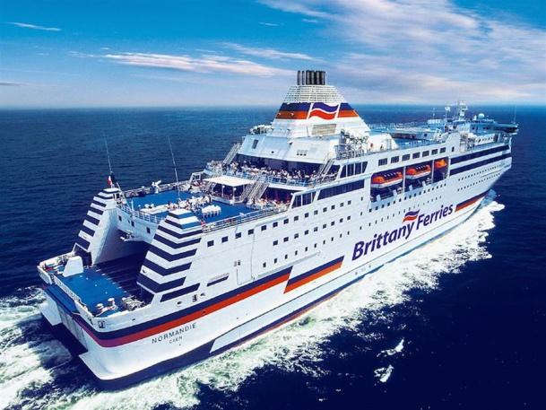 Le Normandie, premier bateau de la compagnie en phase avec les nouvelles normes écologiques. DR-Brittany Ferries.