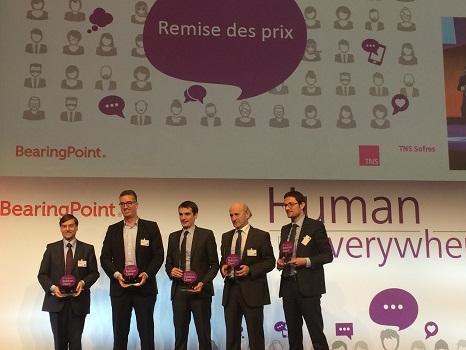 Les représentants du Club Med ont reçu leur prix le 26 janvier 2015 - Photo DR