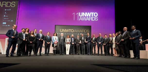 Les lauréats des 11e Prix Ulysse récompensant l'excellence et l'innovation dans le tourisme ont reçu leur prix le 28 janvier 2015 - DR : UNTWO Flickr