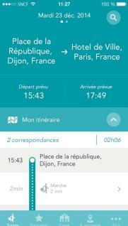 L'application SNCF offre un accompagnement sur l'ensemble du trajet - DR : SNCF