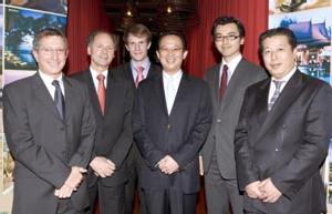 Les responsables de Bayan Tree et Okura jeudi dernier à Paris