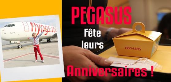 Les enfants qui fêtent leur anniversaire ont droit à une annonce et un gâteau surprise avec Pegasus - DR : Pegasus Airlines