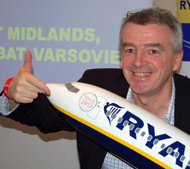 Micheal O'Leary CEO - Photo Ryanair