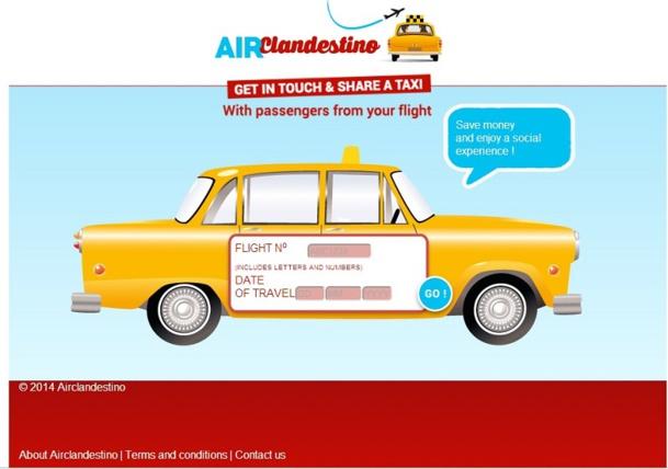 Avec AIRclandestino, nul besoin d'avoir un smartphone relié à internet, ni de prendre rendez-vous et d'attendre un chauffeur. Vous avez aussi la liberté de choisir entre VTC ou taxi - DR : Capture d'écran