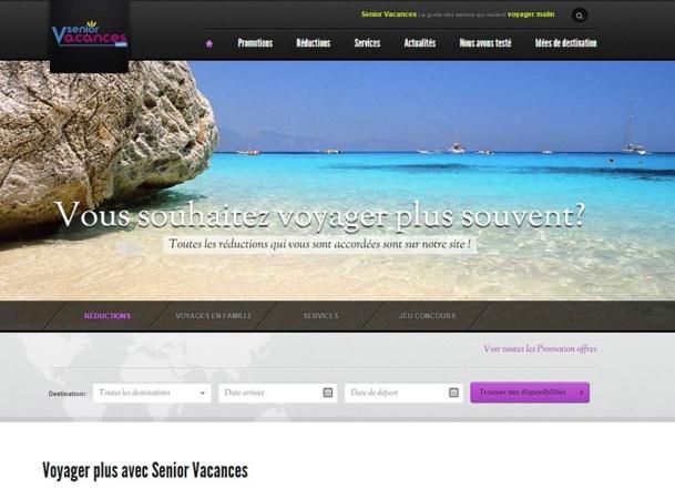 « Notre ambition est de faire de Seniors Vacances, le site de référence du tourisme senior en France pour les voyageurs français et étrangers. » Capture d'écran DR senior vacances