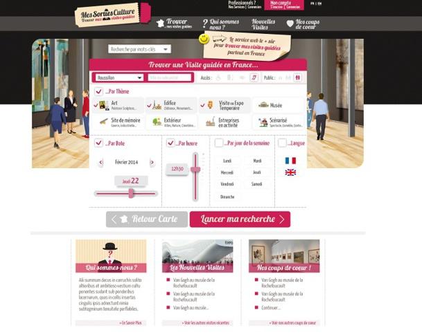 messortiesculture.com est le premier site web facilitateur, permettant au grand public de trouver une idée de visite culturelle - DR : Capture d'écran