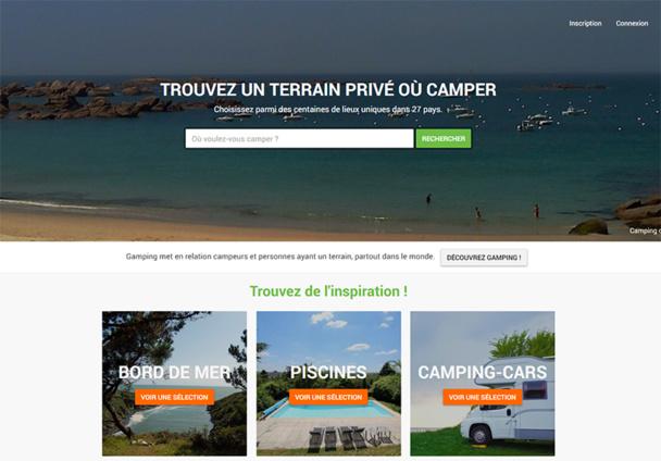 """""""Nous sommes la première plateforme dédiée au concept du camping chez l'habitant. A ce titre, notre communauté regroupe plus de 5 000 gampeurs dans 28 pays."""" - DR : Gamping"""