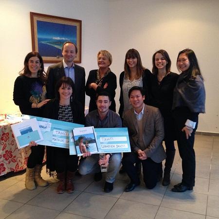 Air Tahiti Nui a récompensé les lauréat de son challenge sur le réseau TUI mardi 3 février 2015 - Photo DR