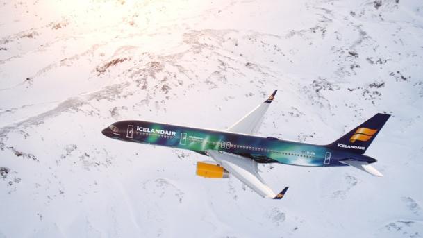 Icelandair a accueilli son Boeing redécoré mercredi 4 février 2015 - Photo Icelandair