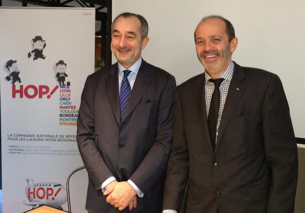 Lionel Guérin, PDG de HOP!, s'est associé avec David Pouyanne, président du réseau Entreprendre pour une durée de 3 ans - DR : LAC
