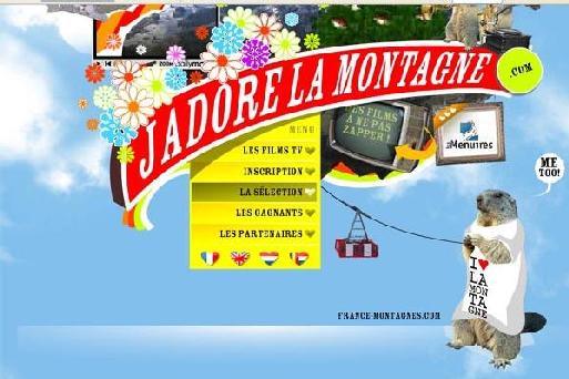 Page d'accueil du site jadorelamontagne.com