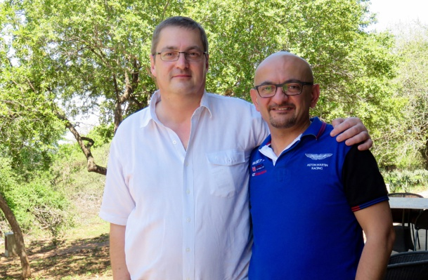 Thierry Houalard (gche) et Gabriel Taher /photo JDL