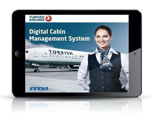 Les personnels de cabine de Turkish Airlines sont désormais équipés de tablettes iPad - Photo DR