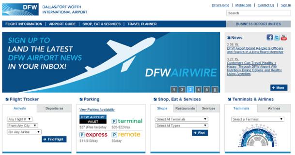 L'aéroport de Dallas/Fort Worth lance un appel d'offres pour l'exploitation commerciale de 30 espaces, principalement au Terminal D - Capture d'écran