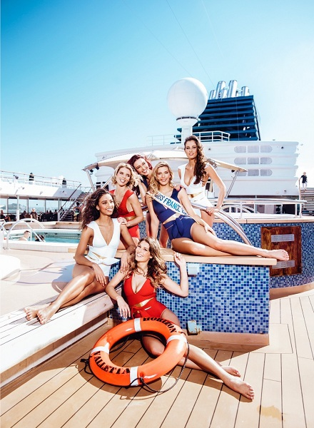 Les Miss France embarquent à bord de l'Horizon de Croisières de France - Photo CDF